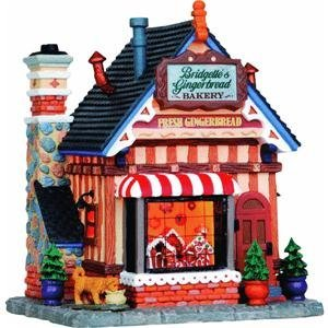Lemax Village Collection Bridgette's Gingerbread Bakery - Lemax Village Houses