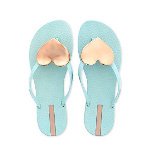 Pantofole - Chanclas para Mujer Rosa Rosa EU36/UK3.5/CN35 Verde