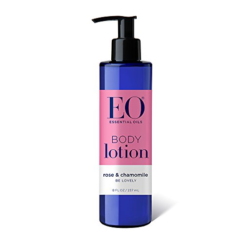 (EO Botanical Ultra Moisturizing Body Lotion, Rose and Chamomile, 8 Ounce Bottles (Pack of 3) )