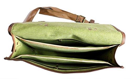 COOL STUFF De Hombre De Cuero Auténtico Bandolera Maletín Para Portátil Bolso - Marrón, 38cm x 28cm x 10cm marrón