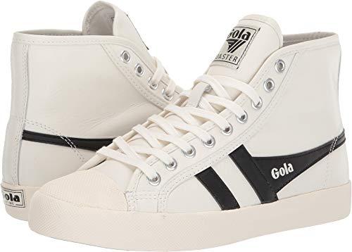 Gola Women's Coaster High Leather Off-White/Black 10 B US