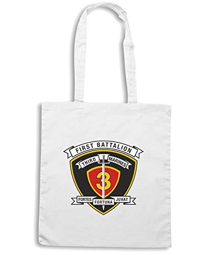 USA REGIMENT Bianca BATTALION USMC Speed 1ST 3RD Shirt Borsa MARINE Shopper TM0299 qxPwwgTBO