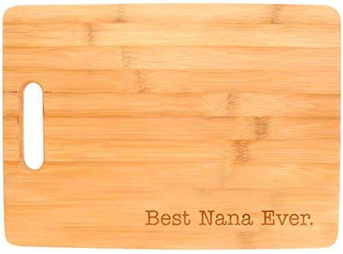 Best Nana Ever Grandma Gift Kitchen Décor Big Rectangle Bamboo Cutting Board Bamboo
