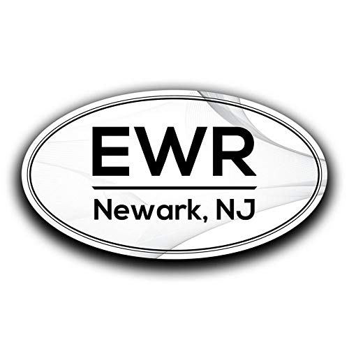 More Shiz EWR Newark New Jersey Airport Code Decal Sticker Home Travel Car Truck Van Bumper Window Laptop Cup Wall MKS0564 Two 5.5 Inch Decals