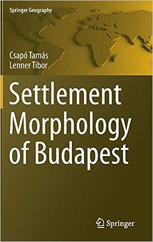 Settlement Morphology of Budapest (Springer Geography