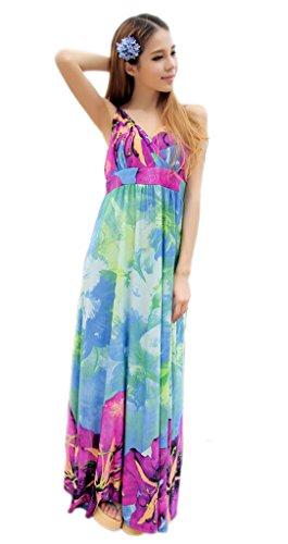 Smile YKK Sexy Geblümt Design Schulterfrei Sommer Kleid Strandkleid ...