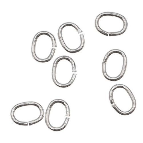 - Beadaholique SS/JR25/3X4 20-Piece Sterling Oval Jump Rings, 4 by 3mm, 22-Gauge, Silver