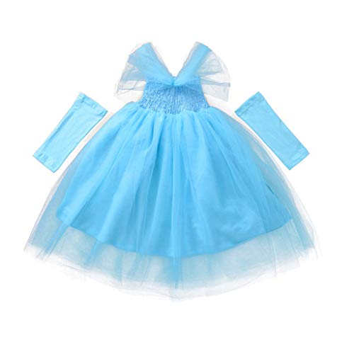 MIS1950s Baby Girl Mesh Princess Dress Bridesmaid Pageant Gown Birthday Party Wedding Dress (Blue, 80) (Best Smartphone To Get 2019)