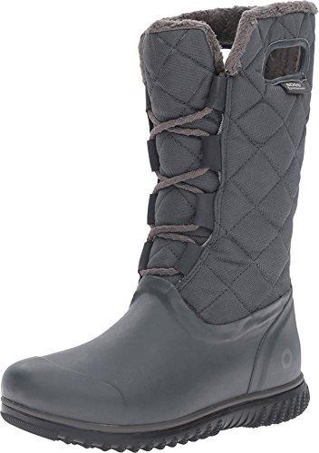 Bogs Women's Juno Lace Tall Dark Grey Boot 9 B (M)