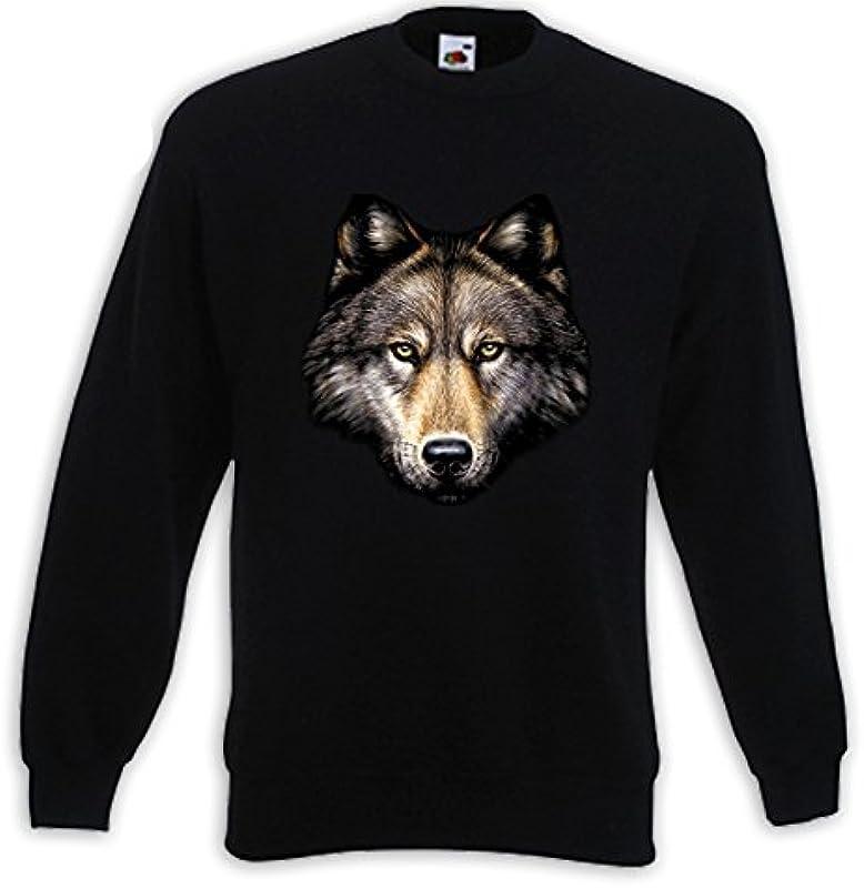 Animal swetry Wilk głowy głowa naturalny Wild Indian Biker Western Trucker USA: Odzież