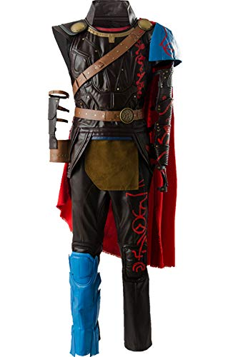 Wecos Men's Ragnarok Thor Costume Halloween Arena Warrior Outfit Battle Suit X-Large -