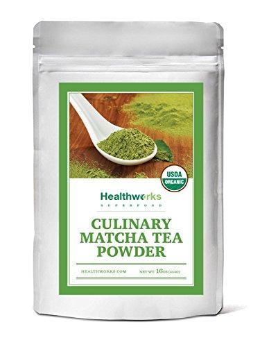 Healthworks Matcha Green Tea Powder Organic, Culinary Grade, 1lb by Healthworks