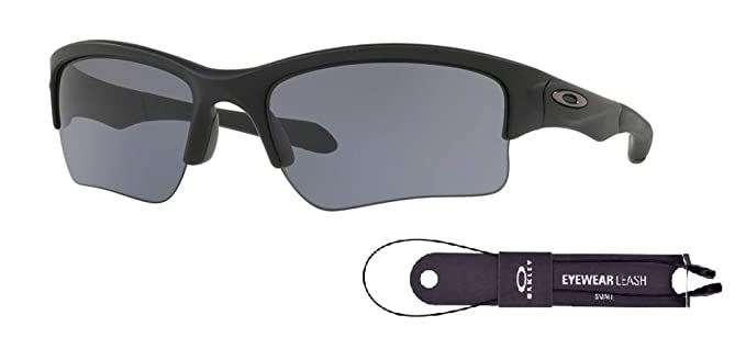 5dfd4fe9f2 Oakley Quarter Jacket OO9200 920006 61M Matte Black Grey Sunglasses For  Juniors+BUNDLE with