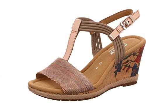Gabor 62828-18 - Sandalias de vestir para mujer beige(KorkFl/Ju