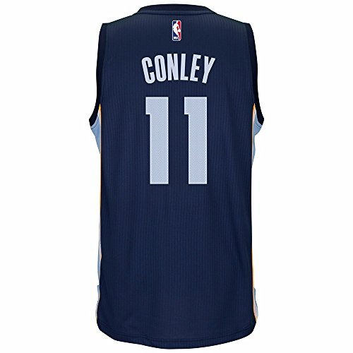 adidas Mike Conley Jr Memphis Grizzlies NBA Navy Blue Official Climacool Away Road Swingman Jersey For Men (XL)