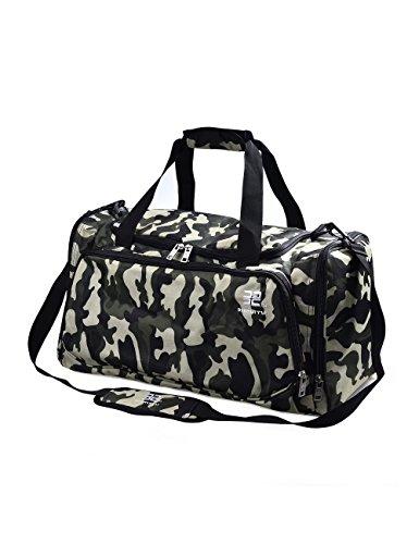 Douguyan Nylon Unisex Groß Multifuntioal Handgepäck Umhänge Reise Handtasche Damen Herren Wochendtasche Sport Schultertasche Weekender Bag Camouflage E00144