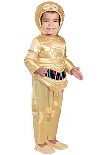 Princess Paradise Classic Star Wars Premium Toddler C-3Po Costume, Gold, 2T -