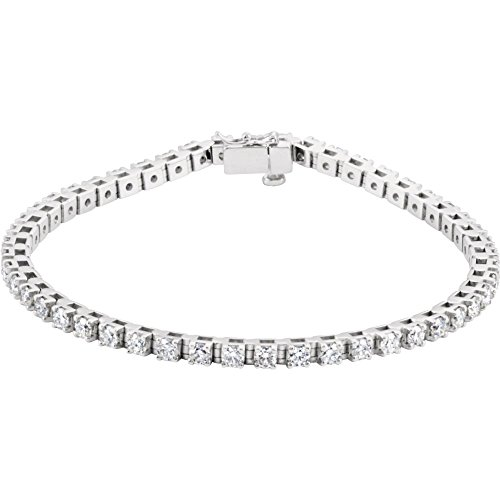 14k White Gold Diamond Bracelet 3 1/2ct