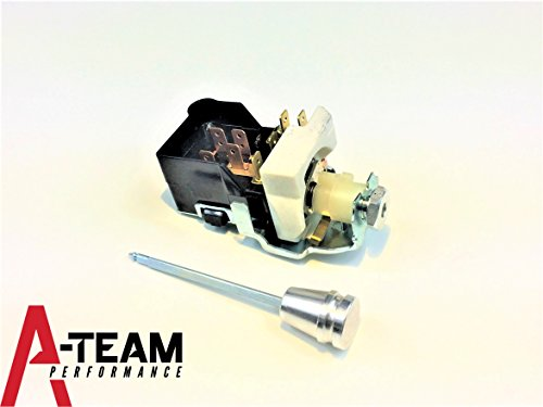 A-Team Performance BILLET ALUMINUM HEADLIGHT SWITCH DASH DIMMER STREET ROD TRUCK COMPATIBLE WITH CHEVY GM (Billet Aluminum Interior Dash Knobs)