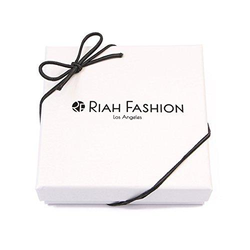 RIAH FASHION Women's Multi Beaded Stretch Bracelet Set (Navy) by RIAH FASHION (Image #3)