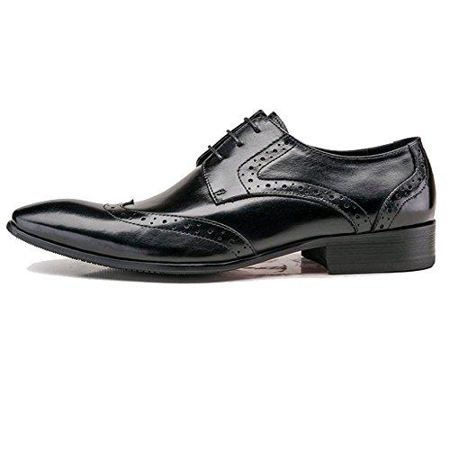 Traspiranti di Uomo da da Inglese Intagliate Scarpe Uomo Casual Black NIUMJ Moda qna0twq