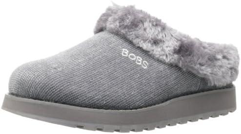 Skechers Women's Keepsakes Snuggle Bug Sneaker,Light Grey,10
