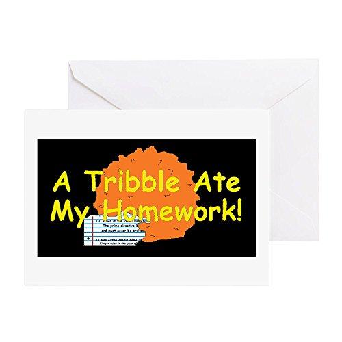 CafePress - A Tribble Ate My Homework - Greeting Card, Note Card, Birthday Card, Blank Inside Matte (Greeting Klingon Christmas)