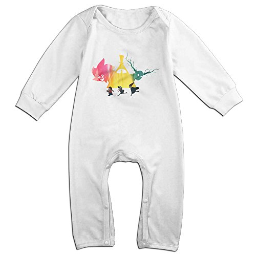 Price comparison product image PCY Newborn Babys Boy's & Girl's Over The Garden Wall Long Sleeve Jumpsuit Outfits For 6-24 Months White Size 18 Months