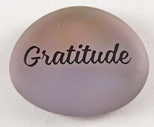 Frosted Imprinted Glass - Gratitude Brightly Colored Frosted Glass Imprinted Word Stones