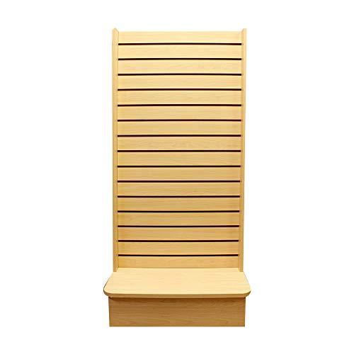 - PROLINEMAX Maple 25'' x 25'' x 54'' Display Tower 2 Sided Slatwall Knockdown Displays Floor Stand Retail Fixture