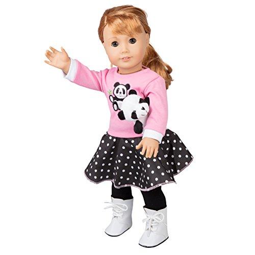 Girl Panda - Panda Poodle Skirt Outfit for American Girl and 18