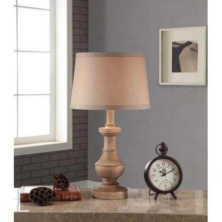Washed Wood Table Lamp (Better Homes and Gardens Rustic Table Lamp, White-Washed Wood Finish No Bulb (1))