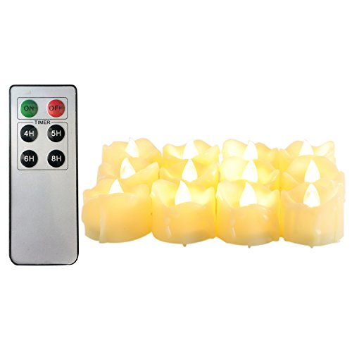 Candle Choice Flameless Candles Tealights Remote (Set of 12) Led Fake Candles Battery Powered Candles