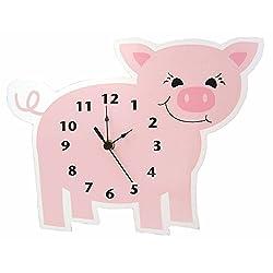 Trend Lab Baby Barnyard Wall Clock, Piglet