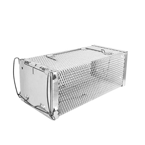Rosoli Rat Trap, Rats Mice Trap Live Animal Humane Cage Catcher for Chipmunks and Other Similar Sized Pest Control Rodents ()
