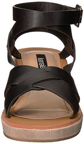 kensie Women's Venezia Wedge Sandal Black 5a7vZryu