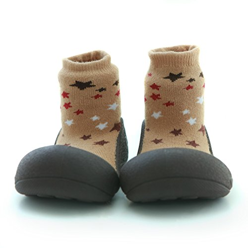Primi Inverno nbsp;anni 3 Brown 24 Bambini Attipas Caldo Bimbi 2 Spessi Gold Pantofole 18 Collezione 6 18 Passi 12 12 nbsp;mesi Calzini Scarpe Per RxRqI1Y4