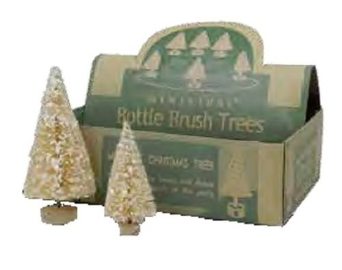 Bethany Lowe - Christmas - Box Of Mini Ivory Trees - LG1763