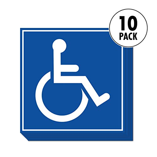 "Handicapped Access Sticker Signs | Convenient Decals for Handicapped Parking, Wheelchair Ramps, and Accessible Public Restrooms 5.5"" x 5.5"