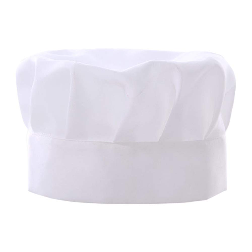 Kingspinner Chef Hat Adult Baker Kitchen Cooking Chef Cap, Adjustable Catering Colleges, Schools, Restaurants, ect (White)