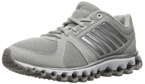 K-Swiss Women's X-160 Heather CMF Cross-Trainer Shoe, Gull Gray/Silver, 6 M US