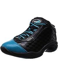 AND1 Men's Tai Chi Mid Sneaker,Black/Capri Breeze,US 10.5 M