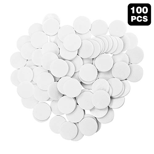 100 Pieces counters Counting Chips Plastic Round Markers 1Inch Opaque Plastic Learning Counters Mini Poker Chips Game Tokens for Bingo Chips (White)