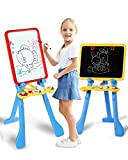STEAM Life Art Easel for Kids | 4 in 1 Magnetic Board, Chalkboard, Painting Easel, and Drawing White Board for Kids | Includes Magnetic Letters and Numbers | Easy Storage and Adjustable Height