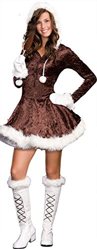 [UHC Girl's Eskimo Cutie Pie Christmas Theme Party Fancy Dress Teen Costume, JR XS (0-2)] (Kid Eskimo Costume)