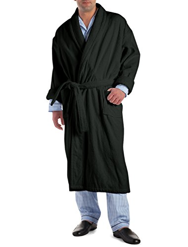 Tall Terry Cloth Robes (Rochester by DXL Big and Tall Hotel Robe, Black 4X/5XT)