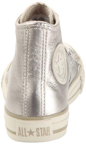 Converse Chuck Taylor All Star Metal Hi - Zapatillas de Deporte de cuero Infantil gris - Gris (Taupe)