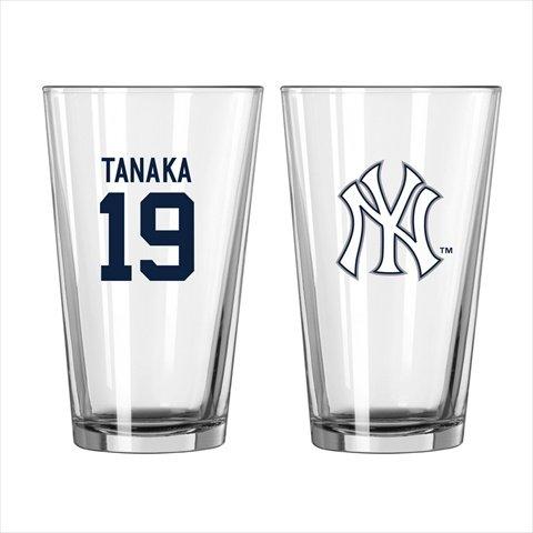 Boelter Brands New York Yankees MLB Baseball #19 Masahiro Tanaka Pint Glass