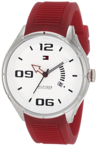 (Tommy Hilfiger  Men's 1790804 Sport Stainless Steel Red Silicon  Watch)