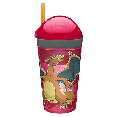 Zak Designs POKC-S110 Zak Zak Designs ZakSnak Snack & Drink Container, 10 oz Pokemon - Red